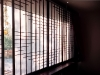 Black Shoji window trim